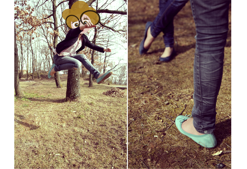 ballerines colorées la halle aux chaussures