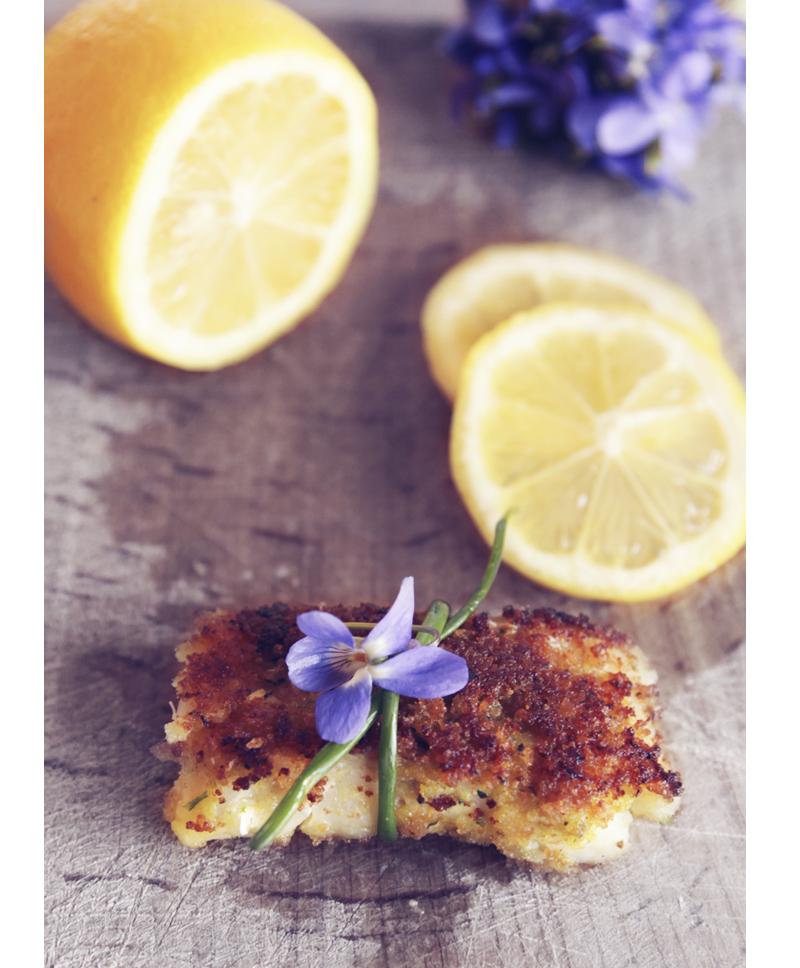 recette poisson pané à la violette
