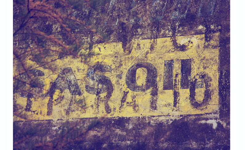publicité shell, mur peint