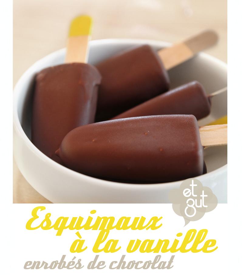esquimaux à la vanille enrobés de chocolat