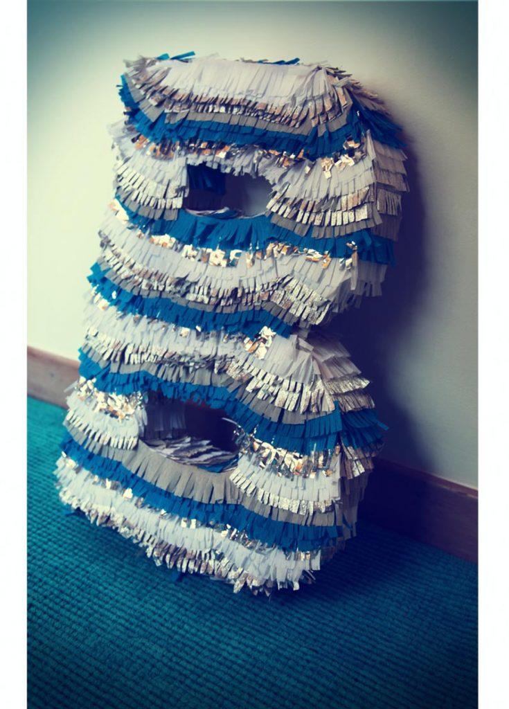 DIY lettre pinata papier d'aluminium