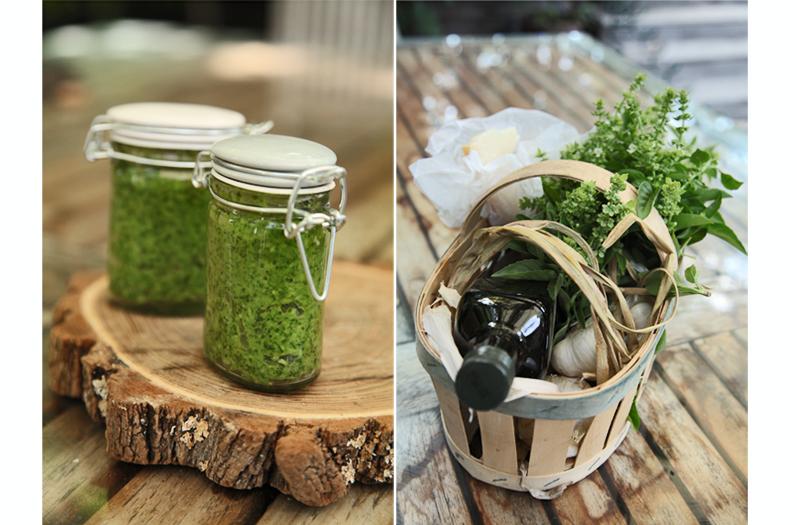 basilic-ail-huile d'olive-parmesan