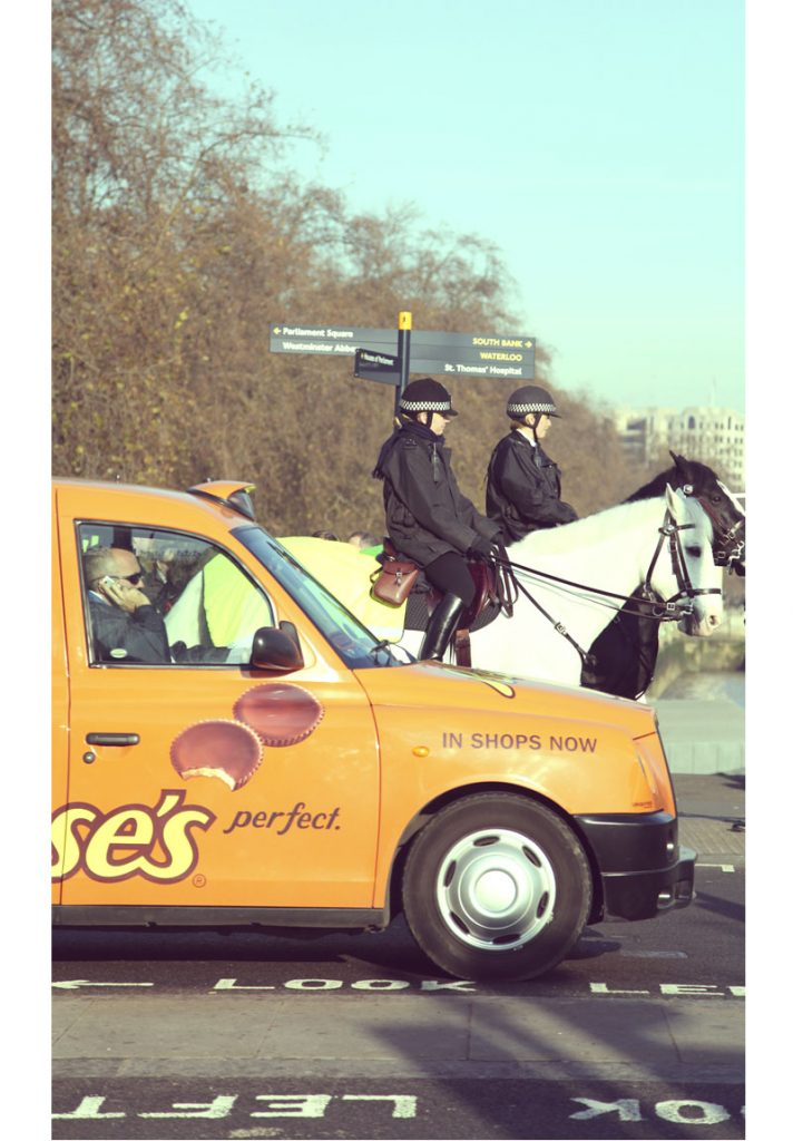 policemen à cheval Londres